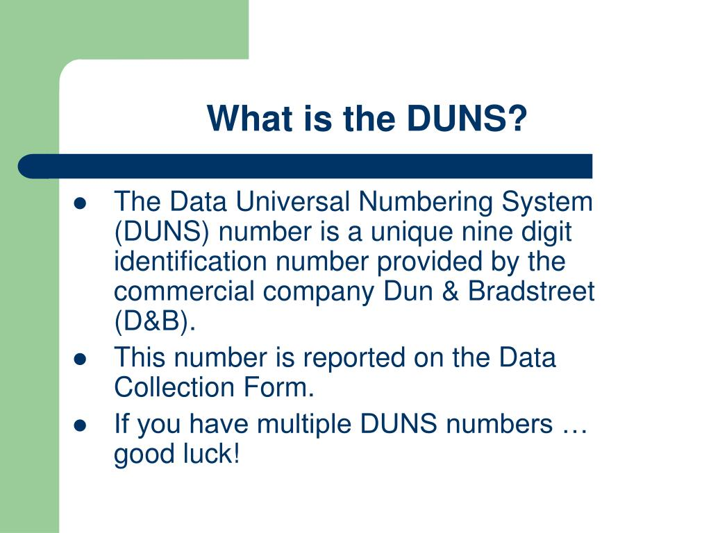 What is the DUNS?