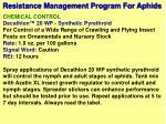 resistance management program for aphids11