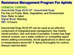 resistance management program for aphids12