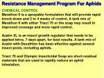 resistance management program for aphids7