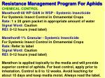 resistance management program for aphids8
