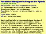 resistance management program for aphids9