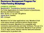 resistance management program for foliar feeding mealybugs17