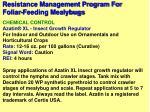 resistance management program for foliar feeding mealybugs18
