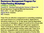 resistance management program for foliar feeding mealybugs19