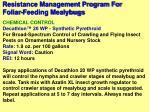 resistance management program for foliar feeding mealybugs20