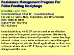 resistance management program for foliar feeding mealybugs21
