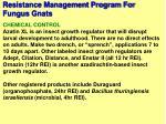 resistance management program for fungus gnats68