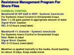 resistance management program for shore flies78