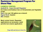 resistance management program for shore flies79