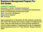 resistance management program for soft scales32