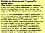resistance management program for spider mites83