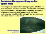resistance management program for spider mites88