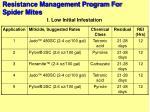 resistance management program for spider mites89