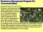 resistance management program for tarsonemid mites95