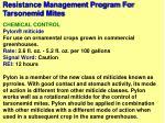 resistance management program for tarsonemid mites96