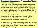 resistance management program for thrips56