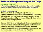resistance management program for thrips57