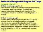 resistance management program for thrips58