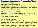 resistance management program for thrips59