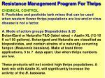 resistance management program for thrips60