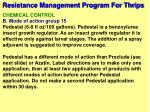 resistance management program for thrips61