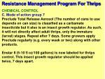 resistance management program for thrips62