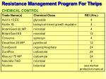 resistance management program for thrips64