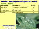 resistance management program for thrips65