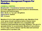 resistance management program for whiteflies46