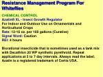 resistance management program for whiteflies47