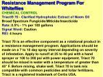 resistance management program for whiteflies48
