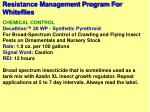 resistance management program for whiteflies49