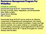 resistance management program for whiteflies50