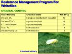 resistance management program for whiteflies52