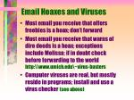 email hoaxes and viruses