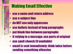 making email effective