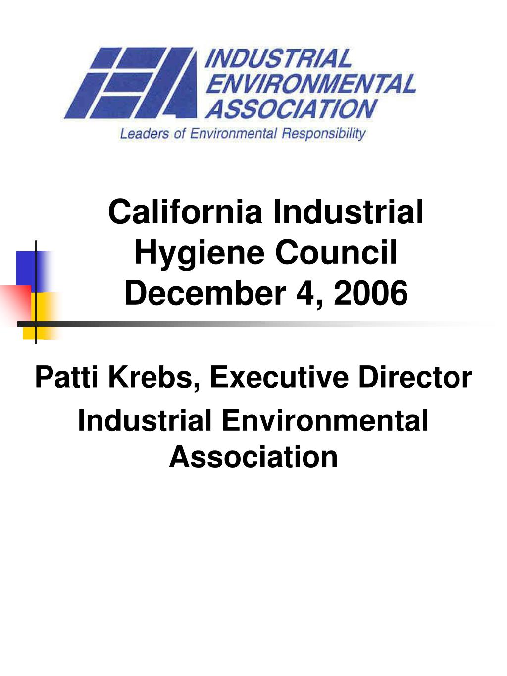 california industrial hygiene council december 4 2006 l.
