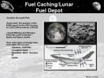 fuel caching lunar fuel depot