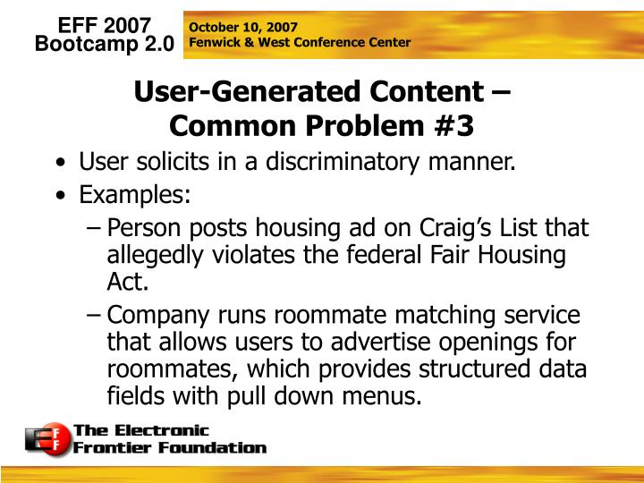 User-Generated Content –