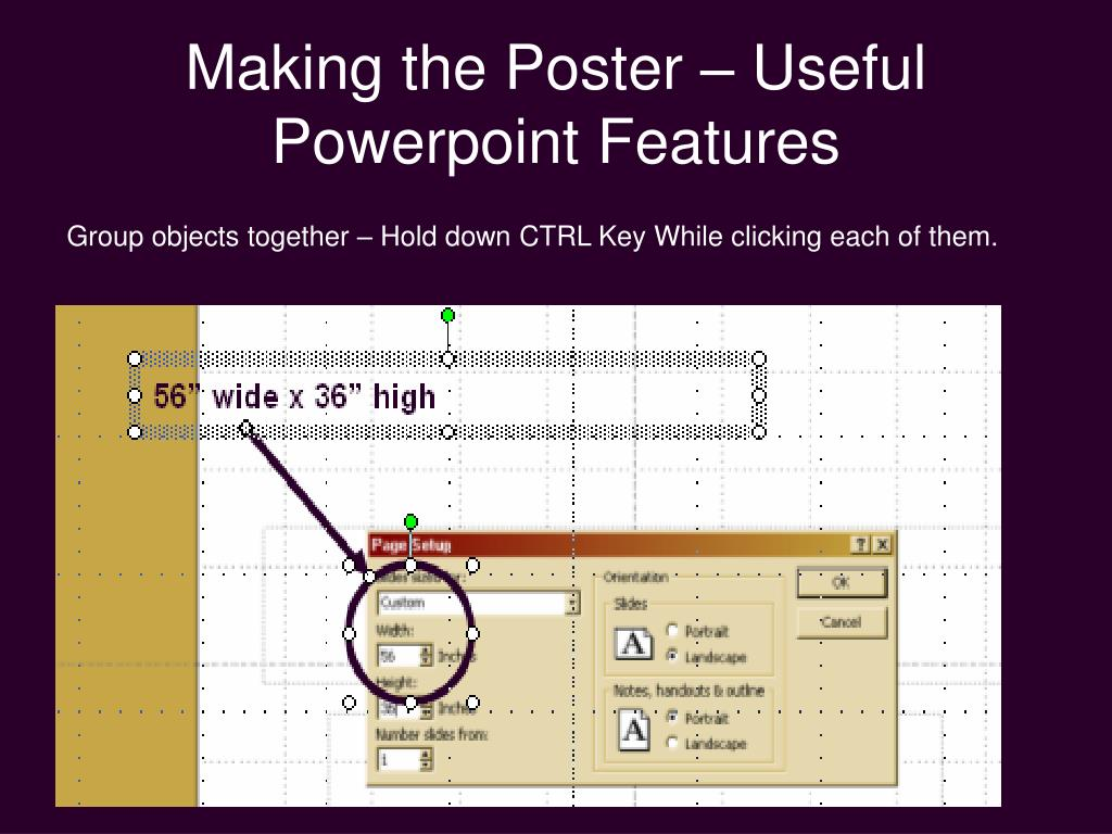 Making the Poster – Useful Powerpoint Features