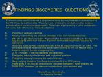 findings discoveries questions