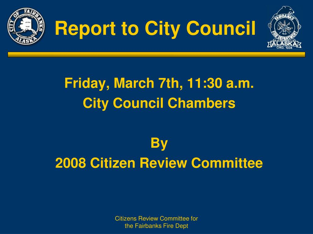 report to city council l.