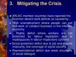 3 mitigating the crisis