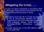 mitigating the crisis