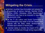 mitigating the crisis11