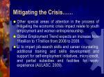 mitigating the crisis12