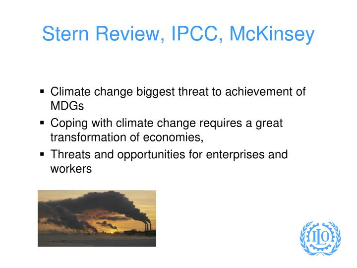 Stern review ipcc mckinsey