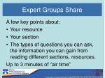 expert groups share