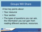 groups will share